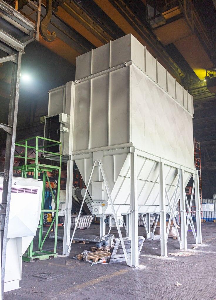 Новая установка для очистки воздуха на литейном заводе