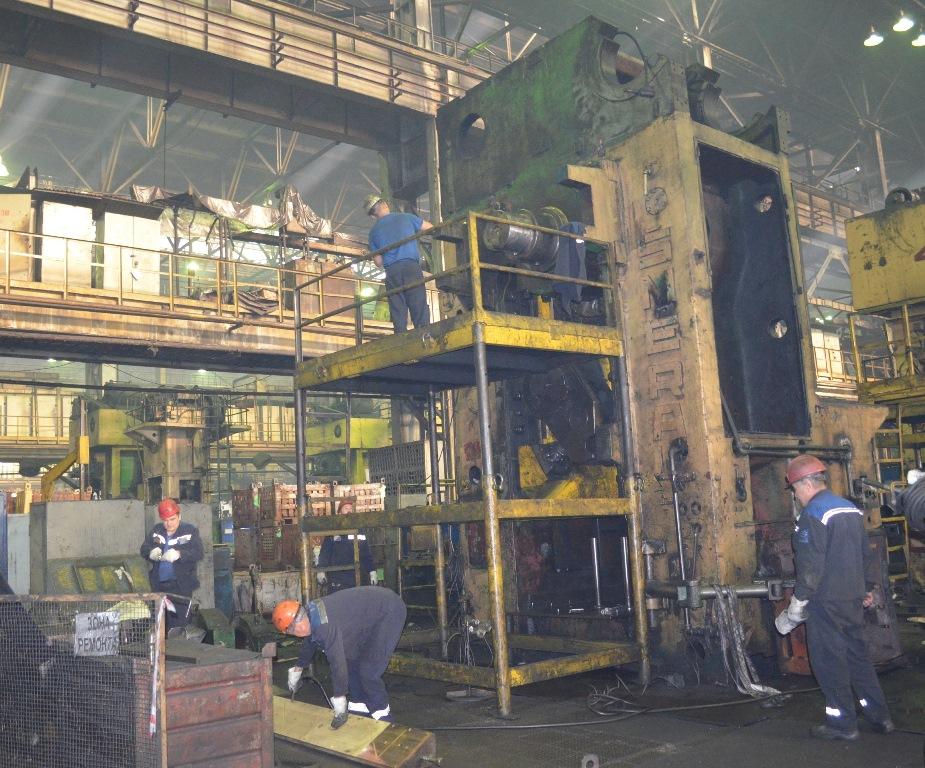 Капитальный ремонт ковочной линии на кузнечном заводе