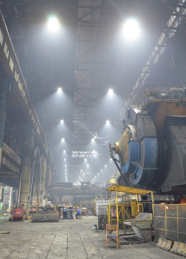 Замена освещения на кузнечном заводе «КАМАЗа»