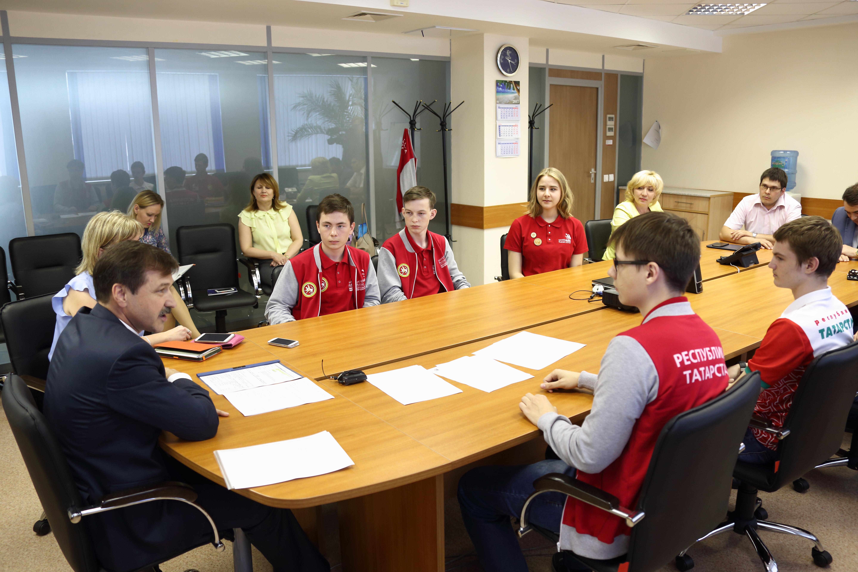 Состоялась встреча с участниками WorldSkills Russia