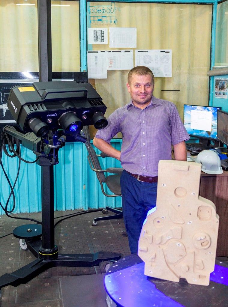 Новый оптический сканер на литейном заводе