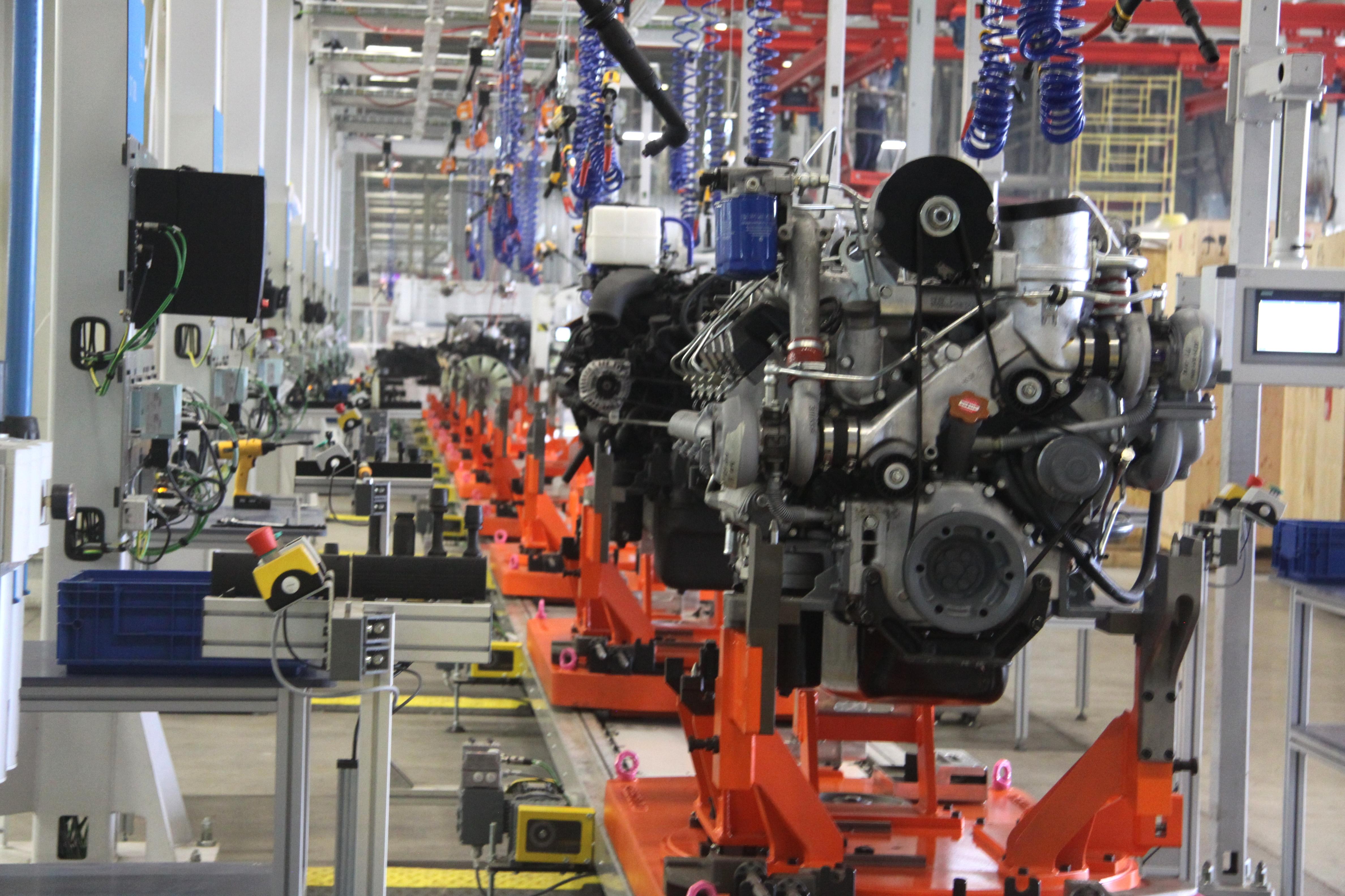 На заводе двигателей протестировали новую линию стыковки