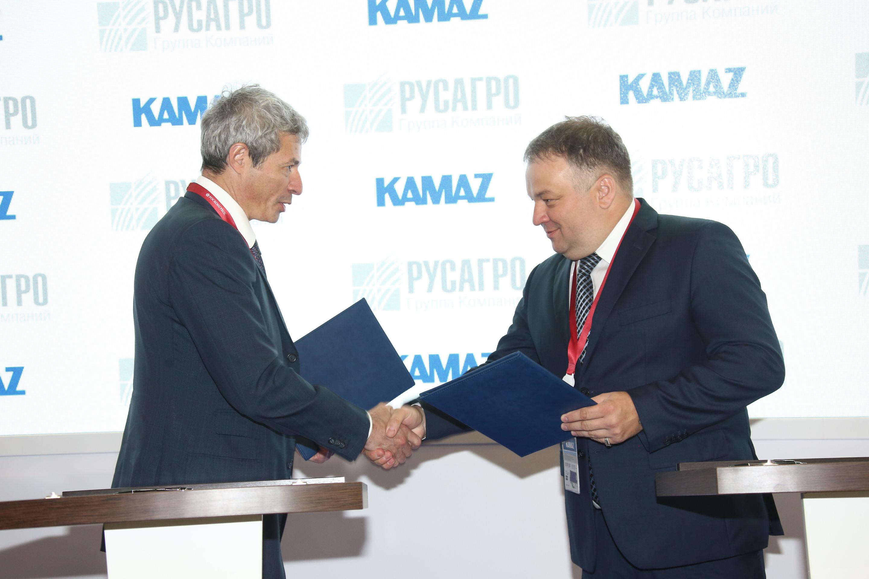 «КАМАЗ» и «Русагро» подписали соглашение о сотрудничестве