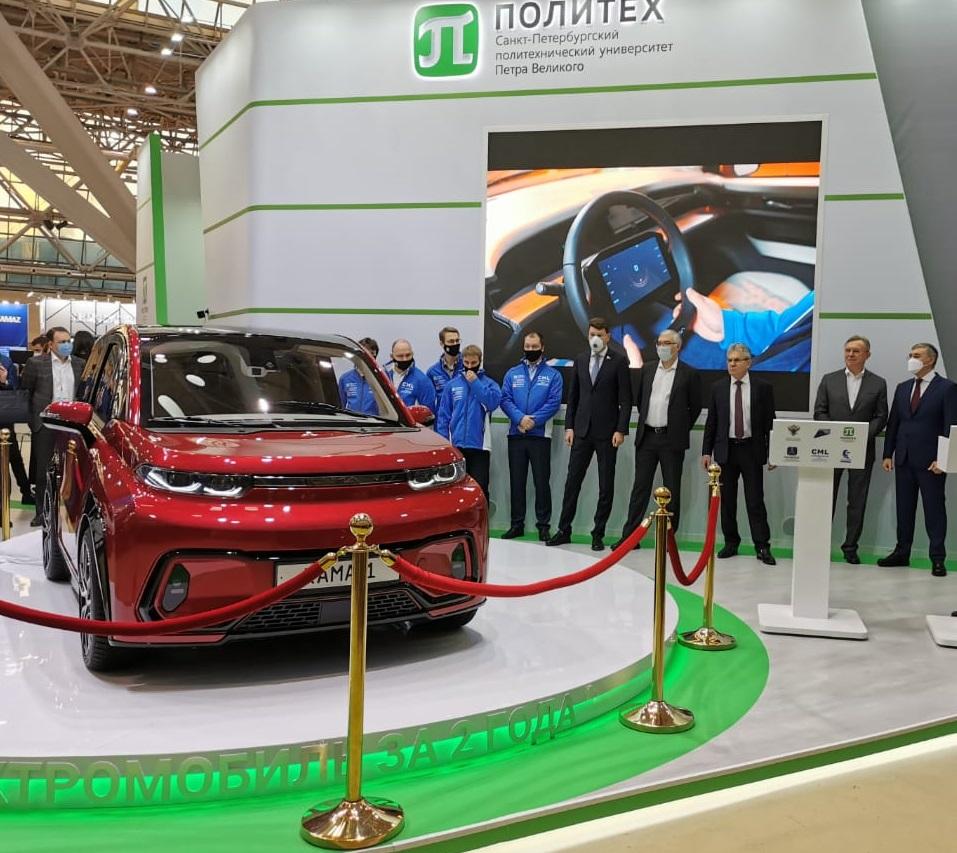 В Москве презентован электромобиль «КАМА-1»
