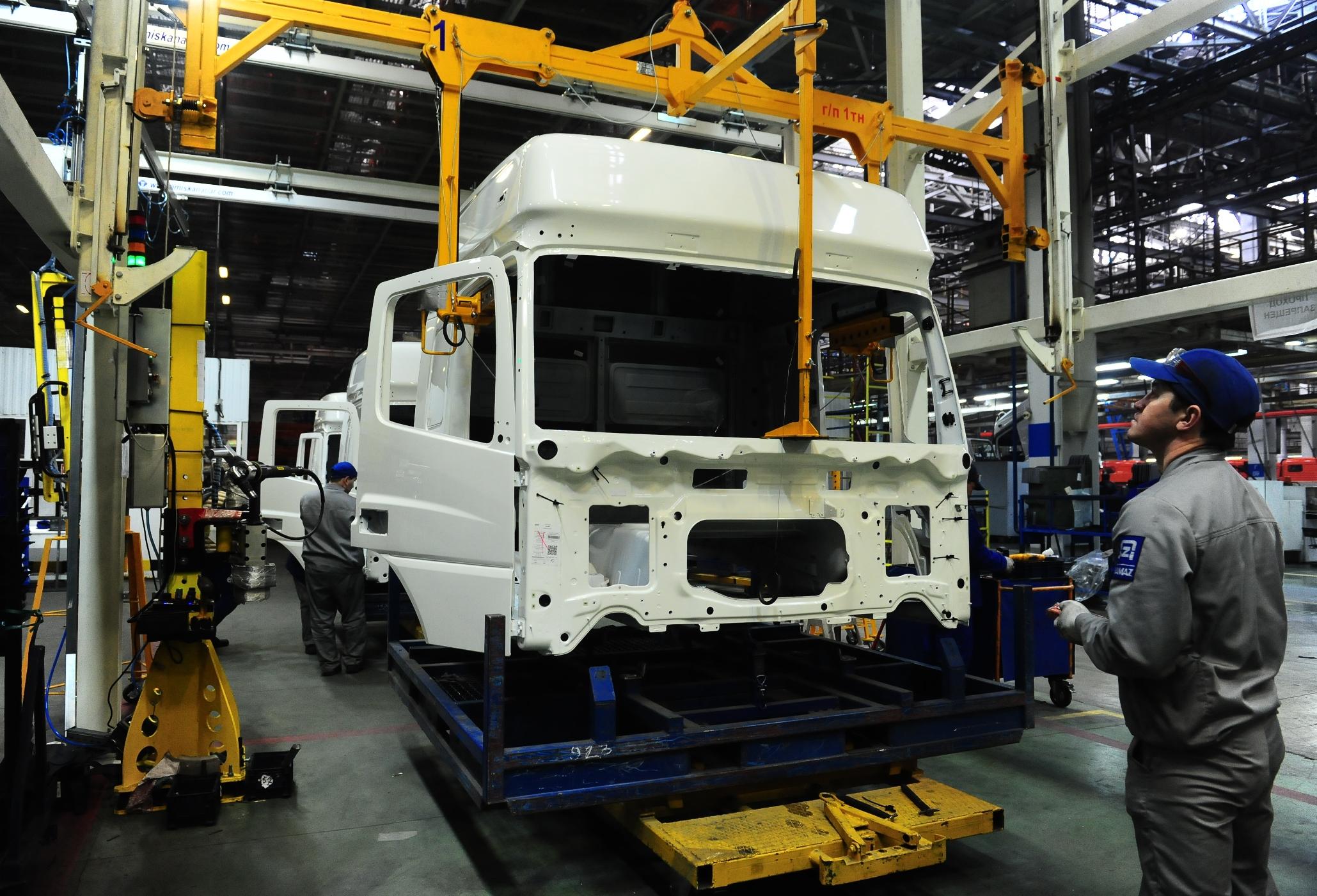 На «КАМАЗе» модернизируют конвейер сборки кабин