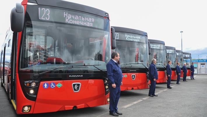 Газовые автобусы НЕФАЗ для Казани