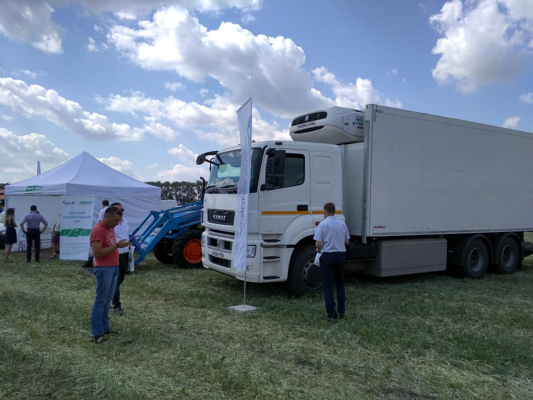 Автотехника КАМАЗ на выставке в Туле