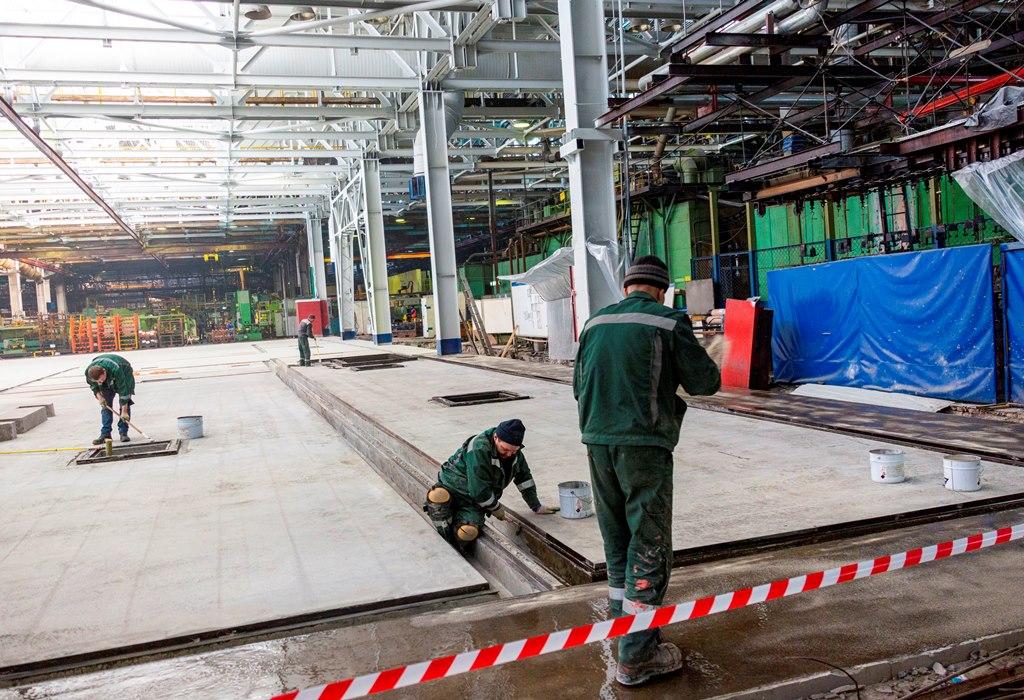 На автомобильном заводе внедряется новый окрасочный комплекс