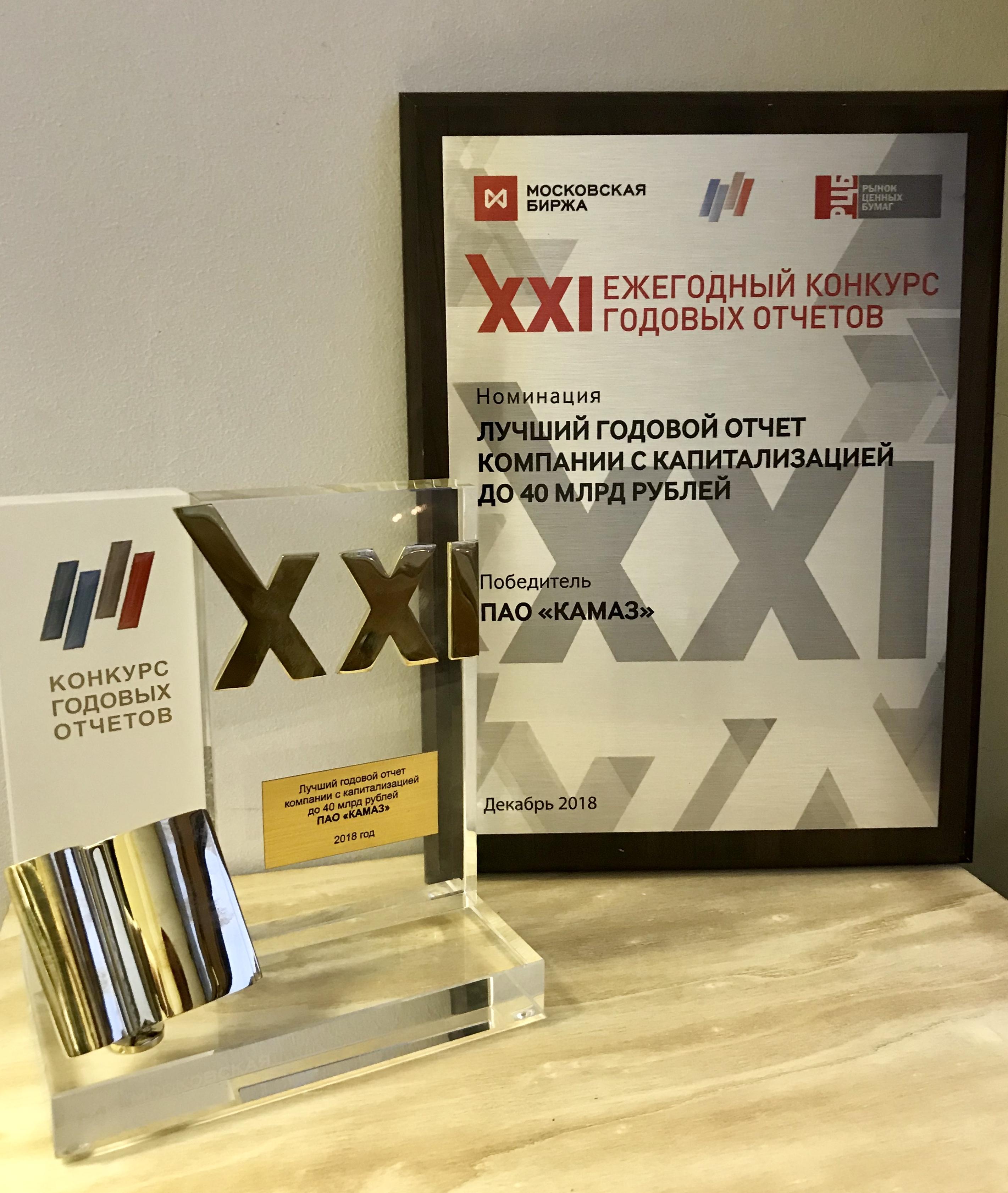 «КАМАЗ» - победитель конкурса годовых отчётов