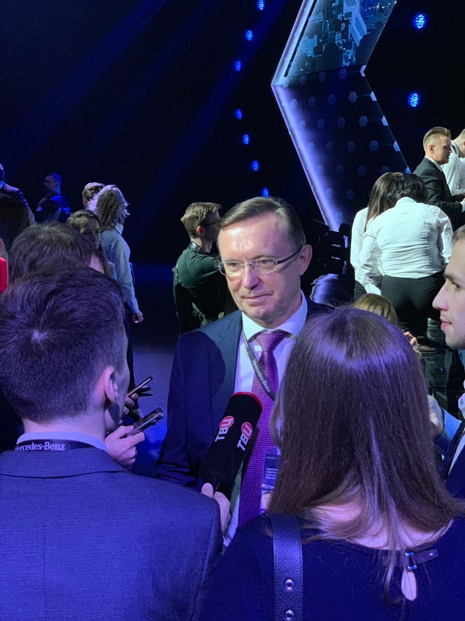Сергей Когогин на открытии завода Mercedes-Benz