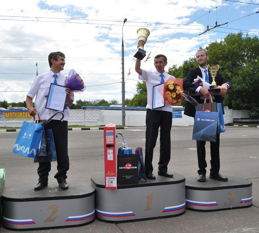Призы от «КАМАЗа» для лучших водителей троллейбуса