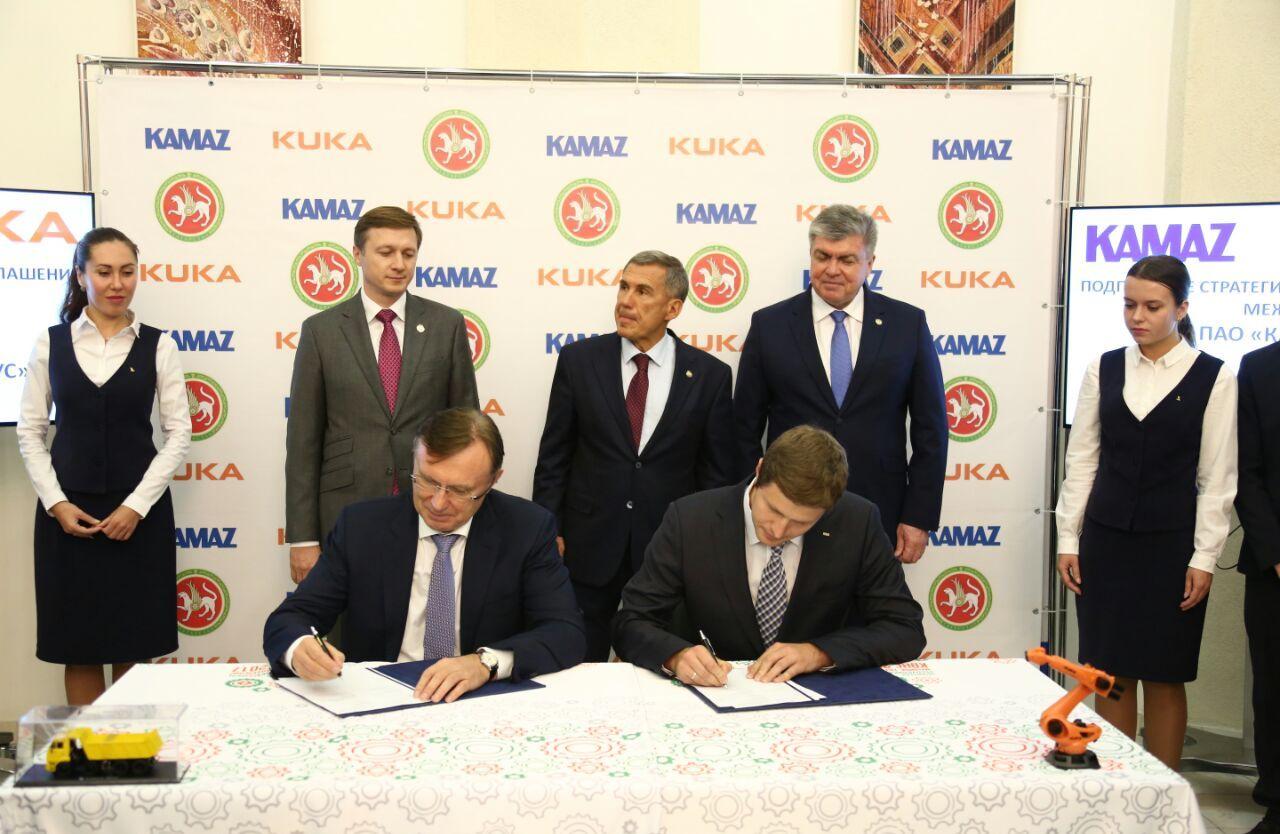«КАМАЗ» и «KUKA Robotics RUS» подписали соглашение о партнёрстве