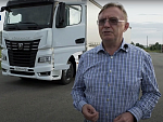 THE HEAD OF KAMAZ HAS TESTED A NEW LONG-HAUL TRACTOR ON THE HIGHWAY
