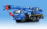 Mobile cranes on the chassis KAMAZ are among the best goods of Russia